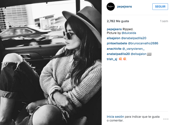 Fuente: Instagram Pepe Jeans.