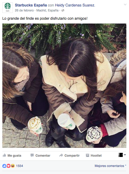 campaña de Starbucks con micro influencers