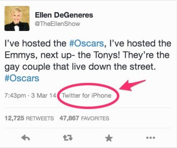 ellen degeneres iphone